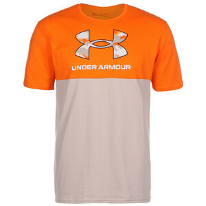 Camo Big Logo Trainingsshirt Herren, orange / beige, zoom bei OUTFITTER Online