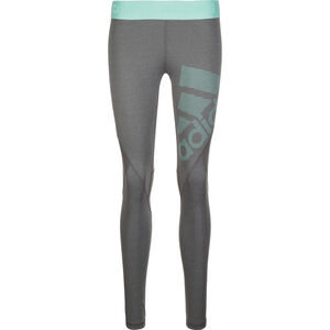 AlphaSkin Sport Logo Pack Trainingstight Damen, grau / mint, zoom bei OUTFITTER Online