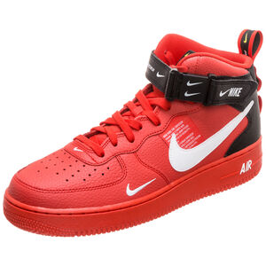 Air Force 1 07 Mid LV8 Sneaker Herren, rot / weiß, zoom bei OUTFITTER Online
