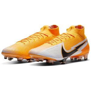 Mercurial Superfly 7 Elite DF FG Fußballschuh Herren, orange / weiß, zoom bei OUTFITTER Online