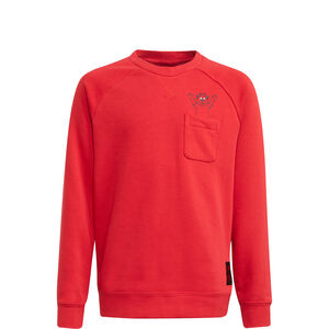 Manchester United Crew Sweatshirt Kinder, rot / schwarz, zoom bei OUTFITTER Online