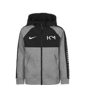 Kylian Mbappé Hybrid Fleece Kapuzenjacke Kinder, grau / schwarz, zoom bei OUTFITTER Online