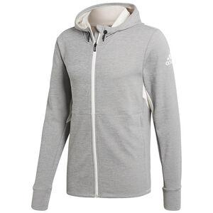 Climacool Textured Full Zip Trainingsjacke Herren, weiß / hellgrau, zoom bei OUTFITTER Online