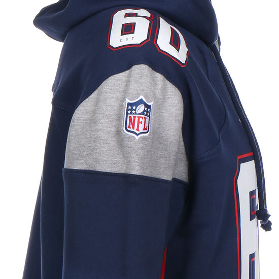 NFL New England Patriots Iconic Franchise Kapuzenpullover Herren, dunkelblau / weiß, zoom bei OUTFITTER Online