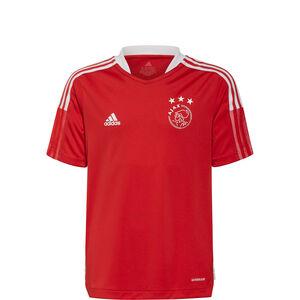 Ajax Amsterdam Trainingsshirt Kinder, rot / weiß, zoom bei OUTFITTER Online