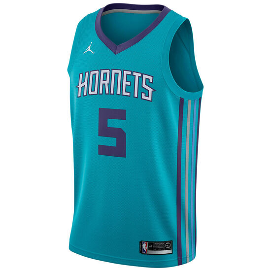 NBA Icon Edition Swingman Hornets #5 Batum Tanktop Herren, türkis / lila, zoom bei OUTFITTER Online