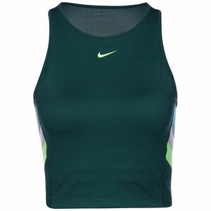 Color-Block Stripe Cropped Trainingstank Damen, petrol / grün, zoom bei OUTFITTER Online