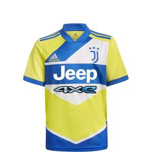 Juventus Turin Trikot 3rd 2021/2022 Kinder, neongelb / blau, zoom bei OUTFITTER Online