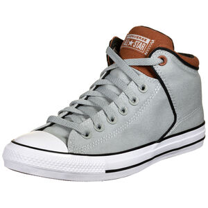 Chuck Taylor All Star High Street Canvas Sneaker, grau / rot, zoom bei OUTFITTER Online