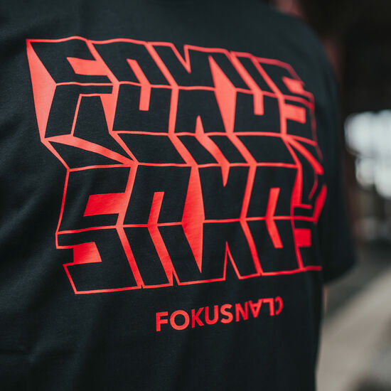 FOKUS CLAN Heavy Mirror T-Shirt Herren, schwarz / rot, zoom bei OUTFITTER Online