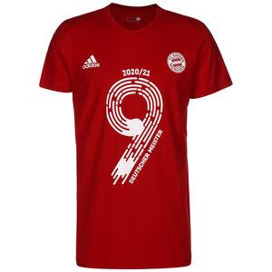 FC Bayern München Deutscher Meister 2021 T-Shirt Herren, rot / weiß, zoom bei OUTFITTER Online