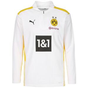 Borussia Dortmund BVB 1/4 Zip Trainingssweat Herren, weiß / gelb, zoom bei OUTFITTER Online