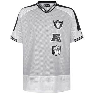 NFL Oakland Raiders Stacked Logo Oversized T-Shirt Herren, hellgrau / schwarz, zoom bei OUTFITTER Online