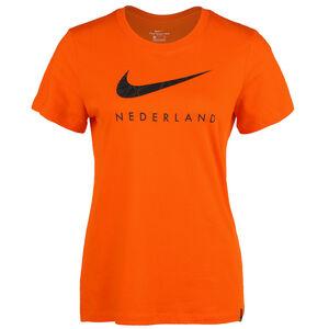 Niederlande Ground T-Shirt EM 2021 Damen, orange / schwarz, zoom bei OUTFITTER Online
