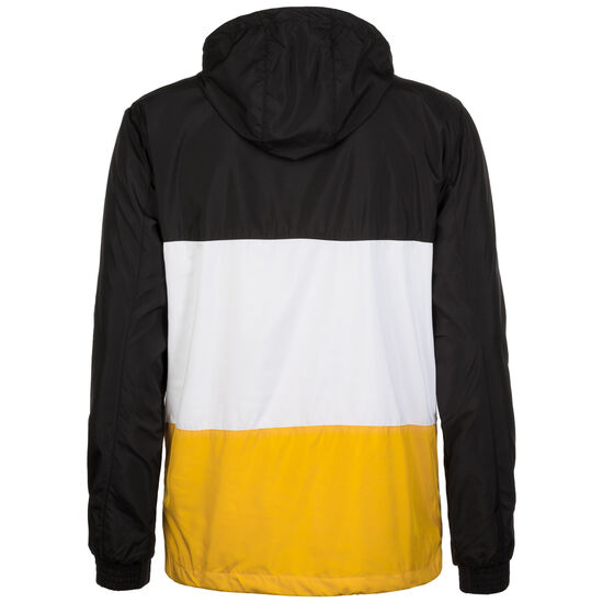 Color Block Pull Over Windbreaker Herren, Schwarz, zoom bei OUTFITTER Online