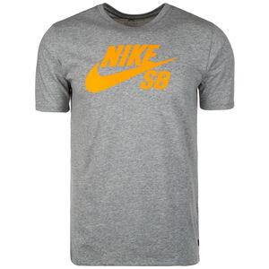 Logo T-Shirt Herren, grau / orange, zoom bei OUTFITTER Online