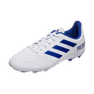 Predator 19.4 FxG Fußballschuh Kinder, weiß / blau, zoom bei OUTFITTER Online