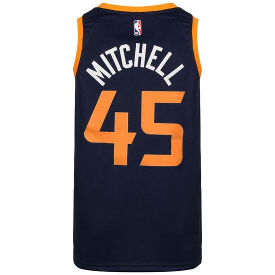NBA Utah Jazz Donovan Mitchell Icon Edition Basketballtrikot Herren, dunkelblau / gelb, zoom bei OUTFITTER Online
