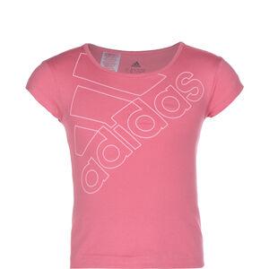 Essentials Logo T-Shirt Kinder, rosa / weiß, zoom bei OUTFITTER Online