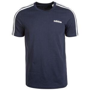 Essentials 3 Stripes Trainingsshirt Herren, dunkelblau / weiß, zoom bei OUTFITTER Online