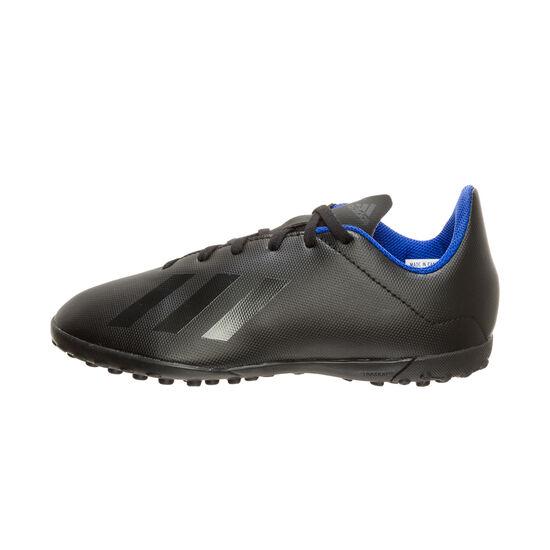 X 18.4 TF Fußballschuh Kinder, schwarz / blau, zoom bei OUTFITTER Online