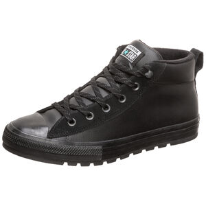 Chuck Taylor All Star Street Leather Mid Sneaker, schwarz, zoom bei OUTFITTER Online