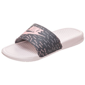 Benassi Just Do It Print Badesandale Damen, Pink, zoom bei OUTFITTER Online