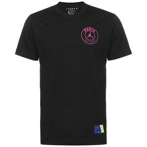 Paris St.-Germain Logo T-Shirt Herren, schwarz / pink, zoom bei OUTFITTER Online
