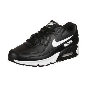 Air Max 90 Leather Sneaker Kinder, schwarz / weiß, zoom bei OUTFITTER Online