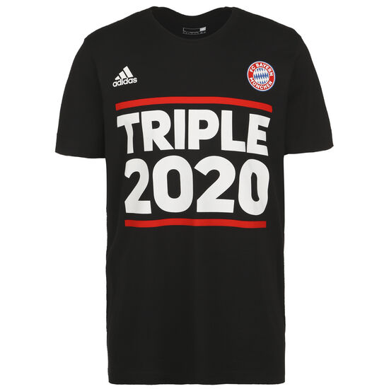 FC Bayern München Triple 2020 T-Shirt Herren, schwarz / weiß, zoom bei OUTFITTER Online