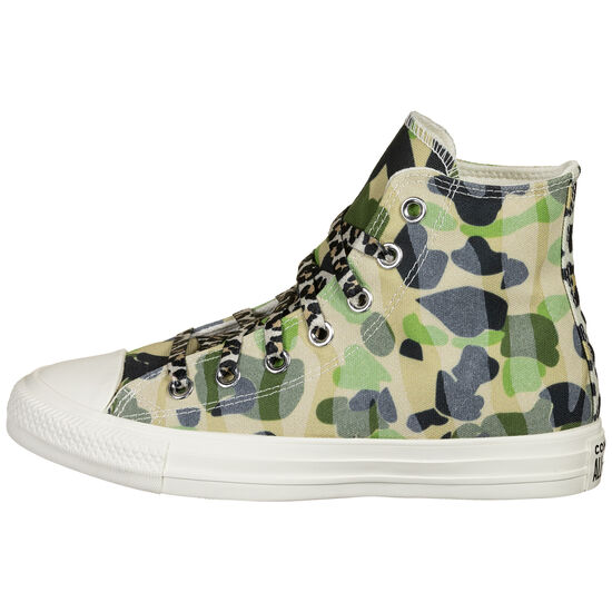 Chuck Taylor All Star Archive Print on Print Sneaker, grün / beige, zoom bei OUTFITTER Online
