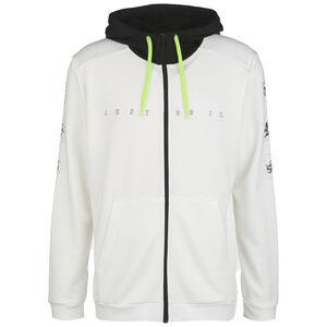Dri-FIT Fleece Trainingsjacke Herren, weiß / schwarz, zoom bei OUTFITTER Online