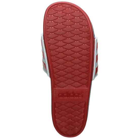 Adilette Comfort Badesandale, rot / weiß, zoom bei OUTFITTER Online