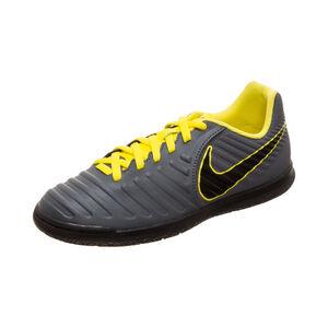 Tiempo LegendX VII Club Indoor Fußballschuh Kinder, dunkelgrau / gelb, zoom bei OUTFITTER Online