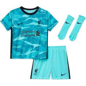 FC Liverpool Minikit Away 2020/2021 Kleinkinder, türkis / schwarz, zoom bei OUTFITTER Online