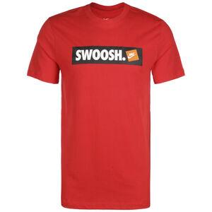 BMPR Swoosh Strike T-Shirt Herren, dunkelrot / weiß, zoom bei OUTFITTER Online
