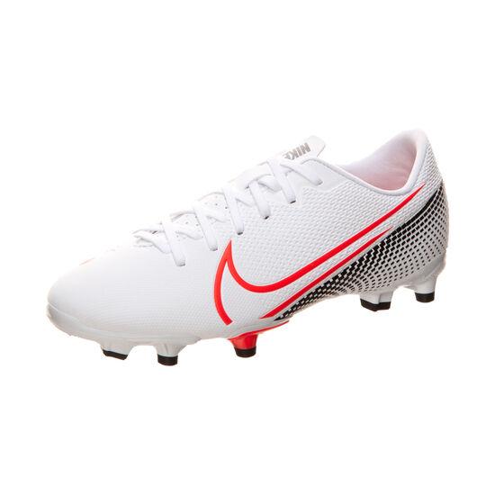 Mercurial Vapor 13 Academy MG Fußballschuh Kinder, weiß / rot, zoom bei OUTFITTER Online
