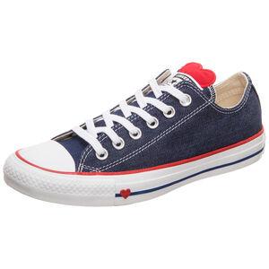 Chuck Taylor All Star Denim Love OX Sneaker Damen, blau / rot, zoom bei OUTFITTER Online