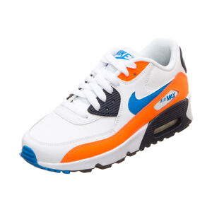 Air Max 90 Leather Sneaker Kinder, weiß / orange, zoom bei OUTFITTER Online