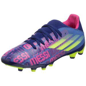 X Speedflow Messi.3 MG Fußballschuh Kinder, blau / pink, zoom bei OUTFITTER Online