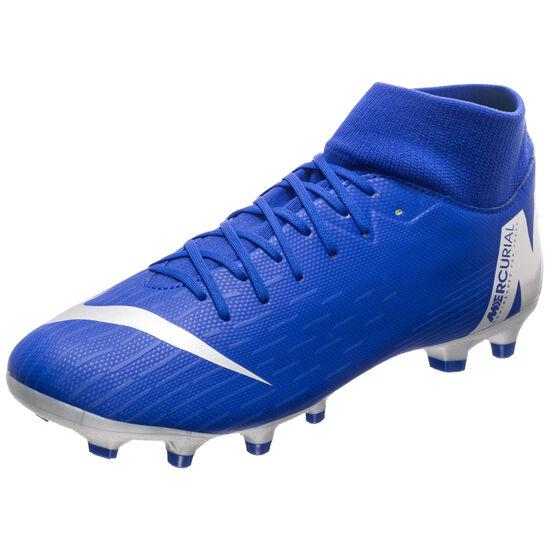 Mercurial Superfly VI Academy DF MG Fußballschuh Herren, blau / schwarz, zoom bei OUTFITTER Online