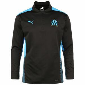 Olympique Marseille 1/4 Zip Trainingssweat Herren, schwarz / blau, zoom bei OUTFITTER Online