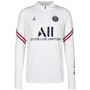 Paris St.-Germain Strike Drill Trainingssweat Herren, weiß / dunkelblau, zoom bei OUTFITTER Online
