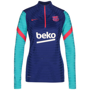 FC Barcelona VaporKnit Strike Drill Longsleeve Damen, blau / türkis, zoom bei OUTFITTER Online