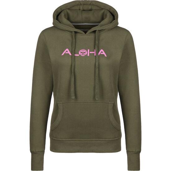 Aloha VW Bulli Kapuzenpullover Damen, graugrün / rosa, zoom bei OUTFITTER Online