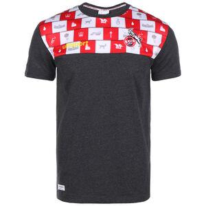 1. FC Köln Karneval T-Shirt 2020/2021 Herren, anthrazit / rot, zoom bei OUTFITTER Online