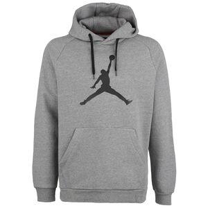 Jordan Jumpman Logo Fleece Kapuzenpullover Herren, grau / schwarz, zoom bei OUTFITTER Online