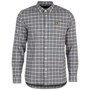 Check Flannel Hemd Herren, grau / weiß, zoom bei OUTFITTER Online