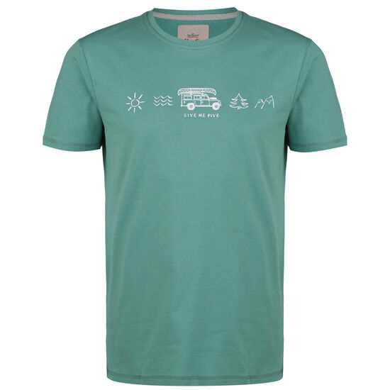 Give Me Five T-Shirt, mint / weiß, zoom bei OUTFITTER Online