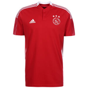 Ajax Amsterdam Poloshirt Herren, rot / weiß, zoom bei OUTFITTER Online